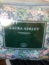 Vintage Laura Ashley Ashbourne shabby chic comforter set Full size Brand New!