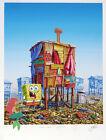 Jeff Gillette - Sponge Bob Cartoon Shack - Hand Embellished Print 2/5 - Ariel.