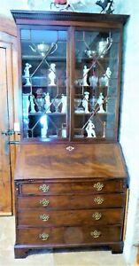 Antique George III Mahogany Bureau Bookcase/secretaire
