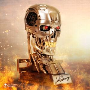 Arnold Schwarzenegger Autographed Terminator T-800 Endoskeleton 1:1 Prop Bust