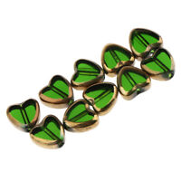 10x Heart Beads Earrings Pendants Charms for Jewelry Making Beading Craft