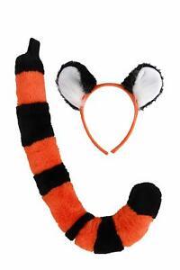 Rajah Ears & Tail Disney Aladdin Tiger Fancy Dress Halloween Costume Accessory