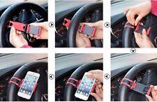 SUPPORTO UNIVERSALE PORTA SMARTPHONE CELLULARE AUTO DA VOLANTE REGGI STERZO