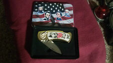 4 CIVIL WAR FIGURES COLLECTORS KNIFE IN A METAL TIN