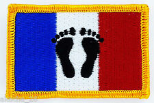 PATCH ECUSSON BRODE DRAPEAU FRANCE PIEDS NOIRS INSIGNE THERMOCOLLANT NEUF