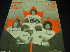 Gino Vannelli Anne Murray other Canada artists 1974 seldom seen Promo Poster Ad