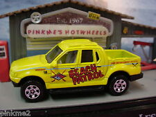 2012 Beach Rescue FORD EXPLORER SPORT TRAC∞Yellow∞Beach Patrol∞LOOSE Matchbox