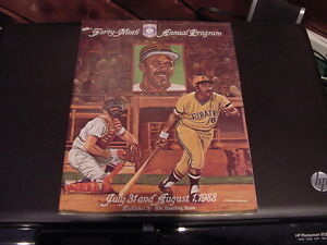 AWESOME 1988 Willie Stargell HOF Induction Program, Pittsburgh Pirates, NICE!!