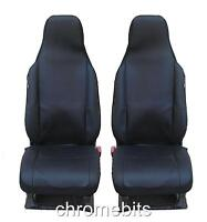 FRONT BLACK FABRIC SEAT COVERS LAND RANGE ROVER  DEFENDER DISCOVERY