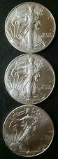 Lot of Three 2014 $1 American Silver Eagle Dollars