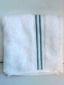White w/ Aqua Fieldcrest Hand Towels
