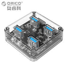 ORICO Transparent 4 Ports USB 3.0 HUB for Desktop PC Laptop with Power Supply