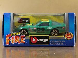 BBURAGO BURAGO 1/43 STREET FIRE #4124 CHEVROLET CORVETTE n. 22 NIB[PI3-036]