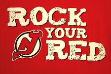 NEW JERSEY DEVILS Rock Your Red small T shirt NHL hockey tee distressed logo