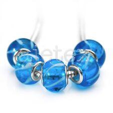 10pcs Murano Glass Beads Lampwork Fit Charms European Bracelet 14x10mm LB0130