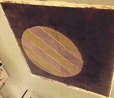 60s Unsigned Avedisian Painting Circle Striped Orb Beachball Abstract Modern Art