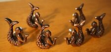 6 Copper Mermaid Drawer Knob Pulls Handles Dresser Closet Cabinet Home Decor New