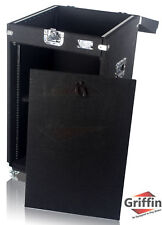Rack Mount Cabinet Flight Case - Studio Mixer Dj Pa Cart Stand Music Gear Stage