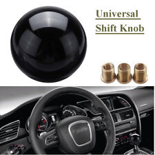 Universal M8 10 12 Black Round Ball Gear Shift Knob Shifter Lever Heavy Weighted