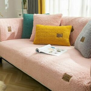 2021 Winter Sofa Covers Towel Plush Couch Cover For Living Room Bay Window Pad