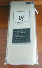 New Ivory Wamsutta Cool Touch Percale 350 Tc Egyptian Cotton King Fitted Sheet