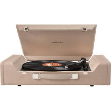 Crosley Nomad Portable Belt-Driven Turntable w/ 3 Play Speeds & Speakers - Brown