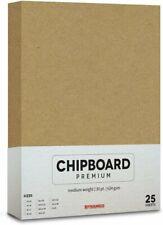 30 Pt. Brown Kraft Chipboard (.030 Caliper Thickness) - 25 Cardboard Sheets