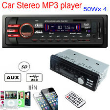 Car Audio 1 DIN Stereo In Dash FM With Mp3 Player USB SD Input AUX Receiver 1235
