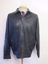 "POLO Ralph Lauren Zipped Leather Harrington Jacket L 42-44"" Euro 52-54 - Black"
