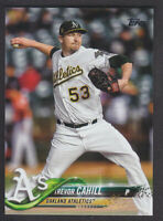 Topps Update 2018 - Base US235 Trevor Cahill - Oakland Athleics
