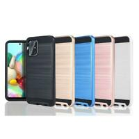 Shockproof Metal Brushed Hybrid Slim Hard Case Cover For Samsung Galaxy A51 /A71