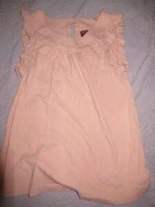 euc Tea peach sleeveless cotton top girls 10 free ship USA