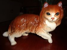 Large Coopercraft Vintage Ginger And White Cat Figurine Ornament