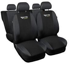 Seat covers fit Audi A6 C4 C5 C6 C7 FULL SET black/grey sport style