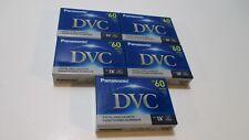 Panasonic DVC Mini DV DVM60 60 Minutes Digital Video Camcorder Cassette Box Of 5