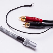 TVA REBEL TONEARM CABLE - 1 Metre - Straight Mini Din - Standard Earth
