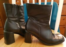 ladies evans black leather ankle boots 6