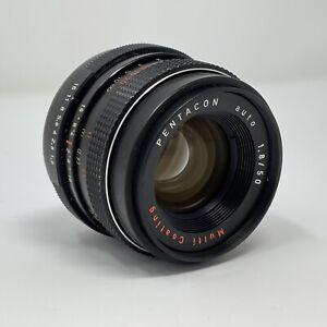 PENTACON auto 50mm F1.8 Lens M42 mount Manual Focus - Good Condition