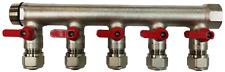 5 Loop Plumbing Manifold w/ 3/4