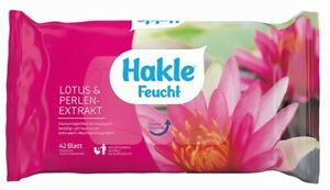 (1,67€/Packung) 12 x Hakle feuchtes Toilettenpapier Lotus & Perlenextrakt 42Stk.