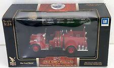 Road Signature 1941 GMC Firetruck 1:24 Scale Die Cast Red Firetruck +24k Coin