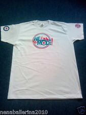 WE ARE THE MODS blue & red design on white adult/youth T-shirt retro scooter