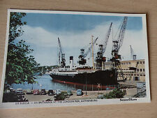 Vintage Postcard: SS Suecia/SS Britannia at the London Pier, Gothenburg.Unused