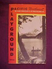 1952 Pacific Northwest Playground Booklet Washington Oregon Montana Idaho Canada