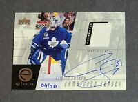 Curtis Joseph Auto Jersey Toronto Maple Leafs 2000-01 Upper Deck Evolve 4/50