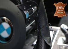 100% Natural Real Leather DIY Stitch Steering Wheel Cover Skin Thread + Needle