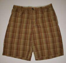 Columbia Orange Plaid  Shorts Sz 34  Walking Bermuda Omni Shade