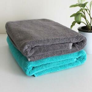 Towels Heelium Microfiber Bath and Hair Towel Set Two Piece Uses Only Water