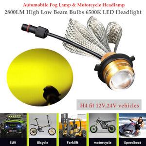 H4 9003 Car Fog Lamp & Motorcycle 2800LM High Low Beam Bulbs 6500K LED Headlight