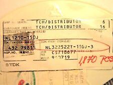 TDK NL3225T-150J-3 SMD INDUCTOR 1,870 PC REEL LOT